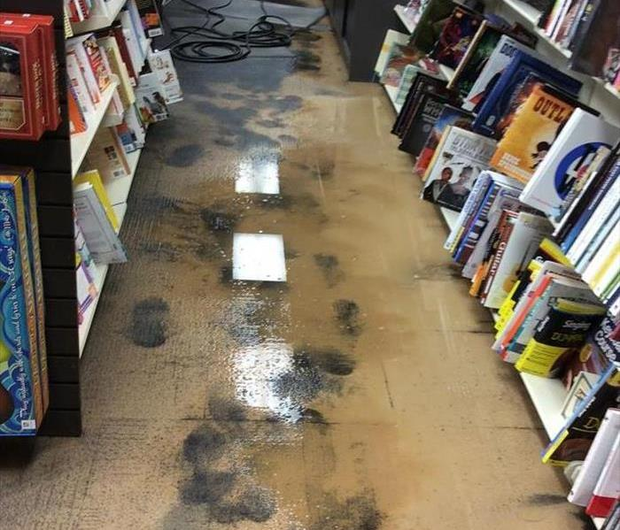Flood at Books-A-Million in Forest Mall Before