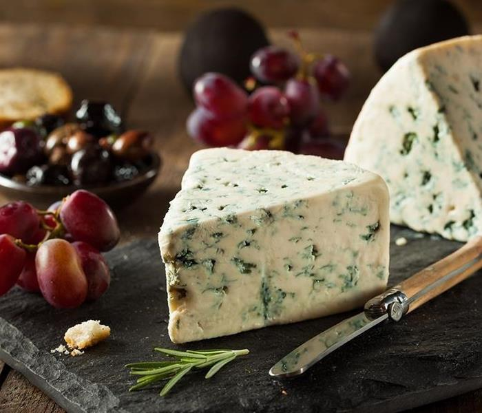 Picture of Blue Cheese on a Board with Fruit
