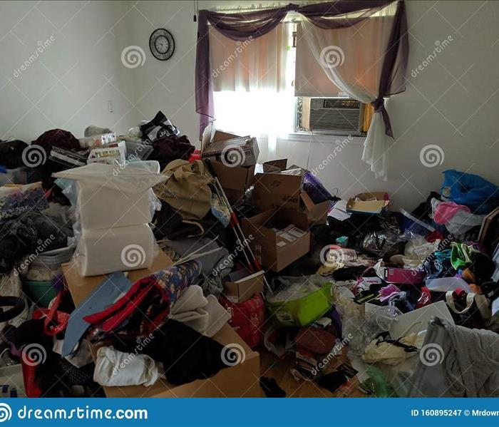 Picture of the home of a compulsive hoarder