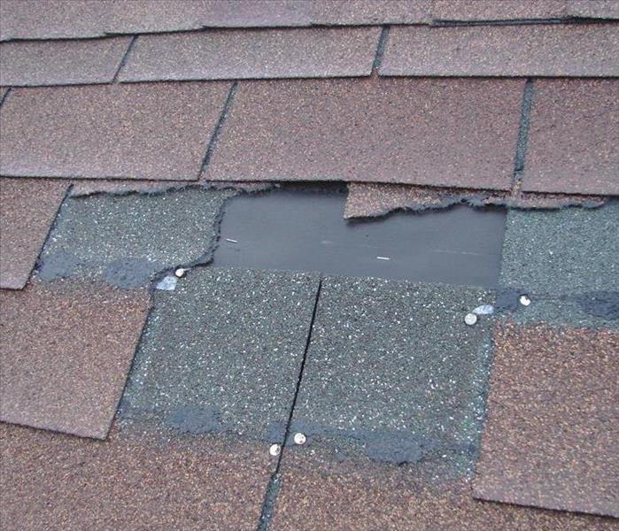Picture of Damaged Shingles on a Roof
