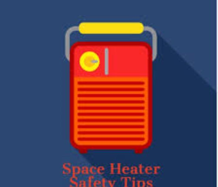 Graphic of Space Heater fire risk