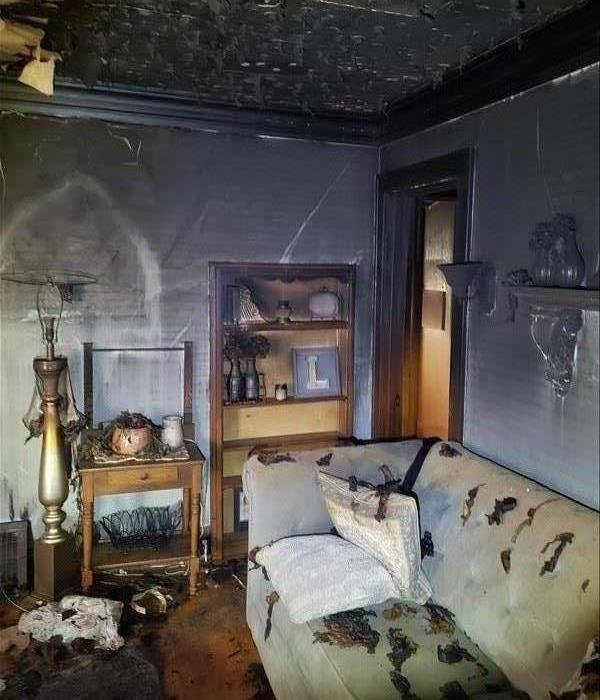 Picture of Living room Heavily Smoke Damaged